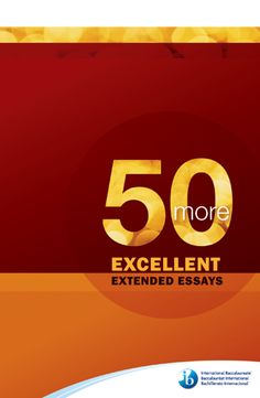 50 excellent extended essays