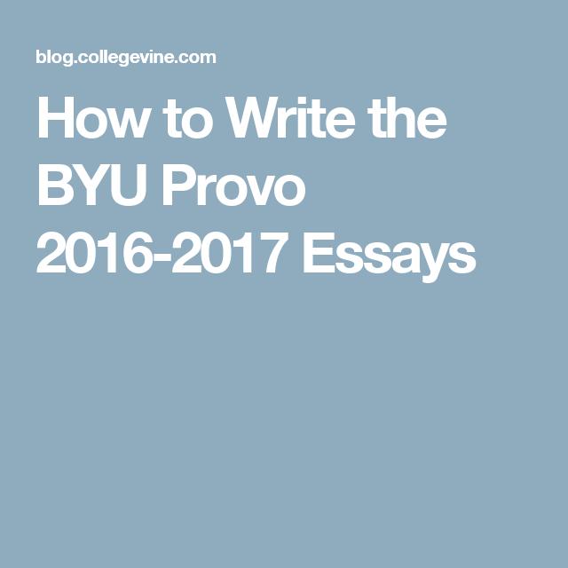 Byu admissions essay