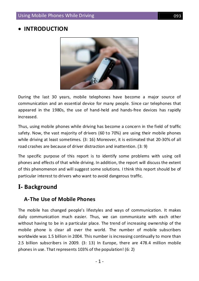 Distractions driving essay
