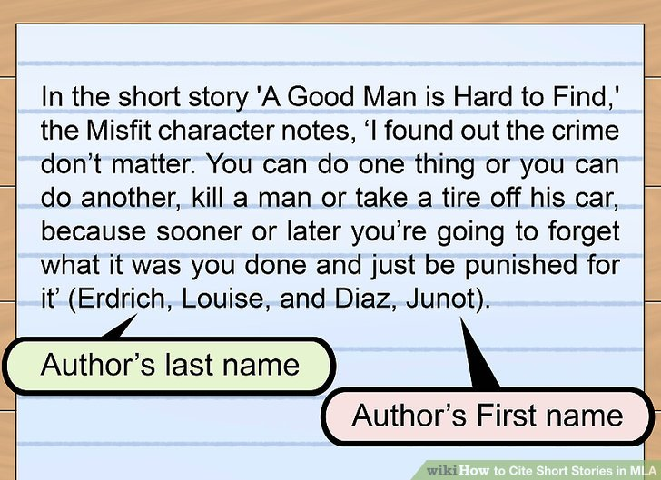 how to cite a short story in an essay