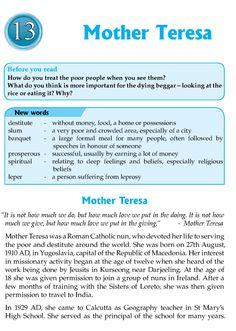 Short essay mother teresa